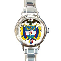 Coat of Arms of Colombia Round Italian Charm Watch