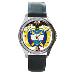 Coat of Arms of Colombia Round Metal Watch