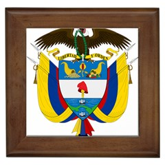 Coat of Arms of Colombia Framed Tiles
