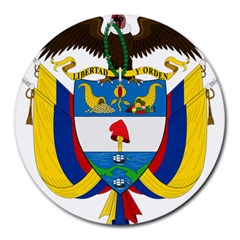 Coat of Arms of Colombia Round Mousepads