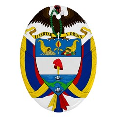 Coat of Arms of Colombia Ornament (Oval)