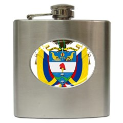 Coat of Arms of Colombia Hip Flask (6 oz)