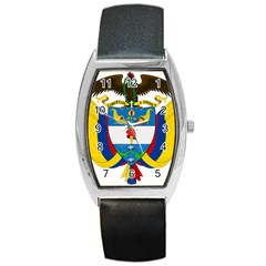 Coat of Arms of Colombia Barrel Style Metal Watch