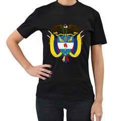 Coat of Arms of Colombia Women s T-Shirt (Black) (Two Sided)