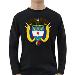 Coat of Arms of Colombia Long Sleeve Dark T-Shirts
