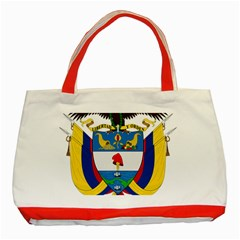 Coat of Arms of Colombia Classic Tote Bag (Red)