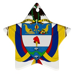 Coat of Arms of Colombia Star Ornament (Two Sides)