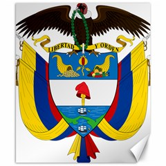 Coat of Arms of Colombia Canvas 8  x 10