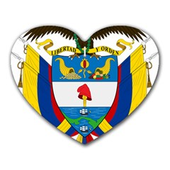 Coat of Arms of Colombia Heart Mousepads