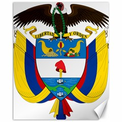 Coat of Arms of Colombia Canvas 11  x 14