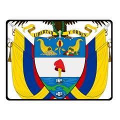 Coat of Arms of Colombia Fleece Blanket (Small)