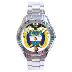 Coat of Arms of Colombia Stainless Steel Analogue Watch