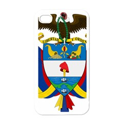 Coat of Arms of Colombia Apple iPhone 4 Case (White)