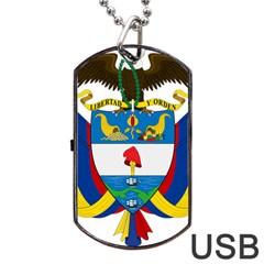 Coat of Arms of Colombia Dog Tag USB Flash (One Side)