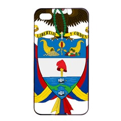 Coat of Arms of Colombia Apple iPhone 4/4s Seamless Case (Black)