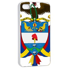 Coat of Arms of Colombia Apple iPhone 4/4s Seamless Case (White)
