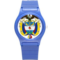 Coat of Arms of Colombia Round Plastic Sport Watch (S)