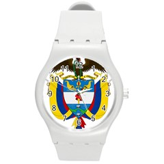 Coat of Arms of Colombia Round Plastic Sport Watch (M)