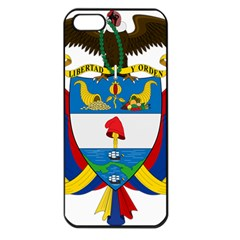 Coat of Arms of Colombia Apple iPhone 5 Seamless Case (Black)