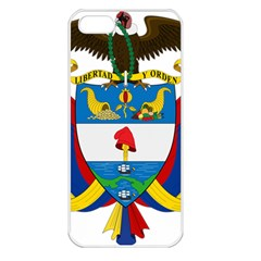 Coat of Arms of Colombia Apple iPhone 5 Seamless Case (White)