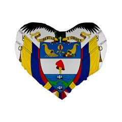 Coat of Arms of Colombia Standard 16  Premium Heart Shape Cushions