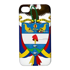 Coat of Arms of Colombia Apple iPhone 4/4S Hardshell Case with Stand