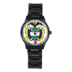 Coat of Arms of Colombia Stainless Steel Round Watch