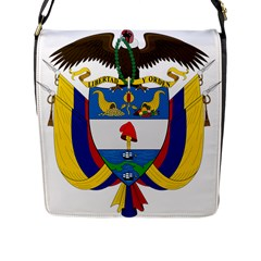 Coat of Arms of Colombia Flap Messenger Bag (L)