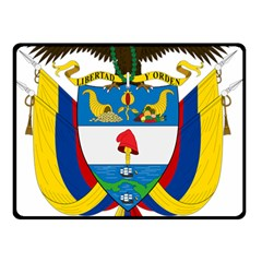 Coat of Arms of Colombia Double Sided Fleece Blanket (Small)