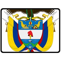 Coat of Arms of Colombia Double Sided Fleece Blanket (Large)