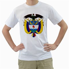 Coat of Arms of Colombia Men s T-Shirt (White)