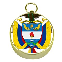 Coat of Arms of Colombia Gold Compasses