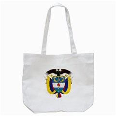 Coat of Arms of Colombia Tote Bag (White)
