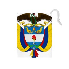 Coat of Arms of Colombia Drawstring Pouches (Medium)