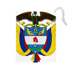 Coat of Arms of Colombia Drawstring Pouches (Large)
