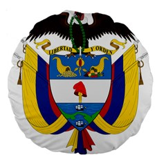 Coat of Arms of Colombia Large 18  Premium Flano Round Cushions