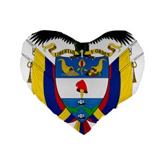 Coat of Arms of Colombia Standard 16  Premium Flano Heart Shape Cushions