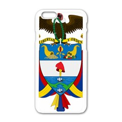Coat of Arms of Colombia Apple iPhone 6/6S White Enamel Case