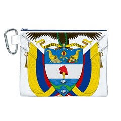 Coat of Arms of Colombia Canvas Cosmetic Bag (L)