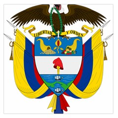 Coat of Arms of Colombia Large Satin Scarf (Square)