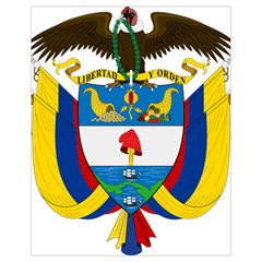 Coat of Arms of Colombia Drawstring Bag (Small)