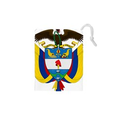 Coat of Arms of Colombia Drawstring Pouches (XS)