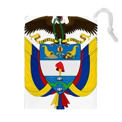 Coat of Arms of Colombia Drawstring Pouches (Extra Large)