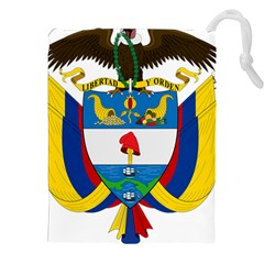 Coat of Arms of Colombia Drawstring Pouches (XXL)