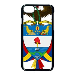 Coat of Arms of Colombia Apple iPhone 7 Seamless Case (Black)