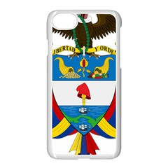 Coat of Arms of Colombia Apple iPhone 7 Seamless Case (White)