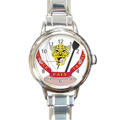 Coat of Arms of The Democratic Republic of The Congo Round Italian Charm Watch