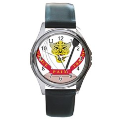 Coat of Arms of The Democratic Republic of The Congo Round Metal Watch