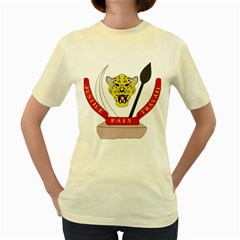 Coat of Arms of The Democratic Republic of The Congo Women s Yellow T-Shirt