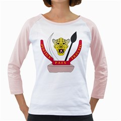 Coat of Arms of The Democratic Republic of The Congo Girly Raglans